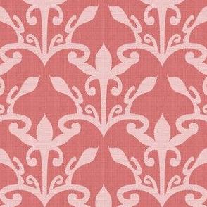 lace cutout  rose damask