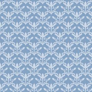 lace cutout blue damask
