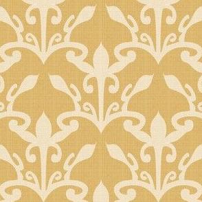 lace cutout gold damask