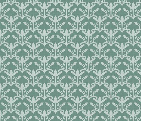 lace cutout soft pine damask fabric by glimmericks on Spoonflower - custom fabric