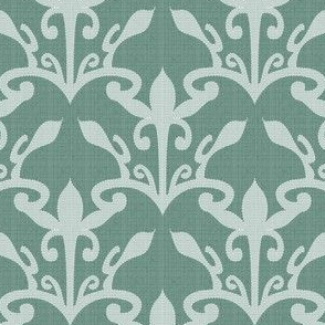 lace cutout soft pine damask