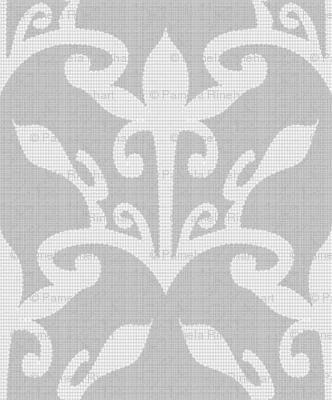 lace cutout pearl gray damask