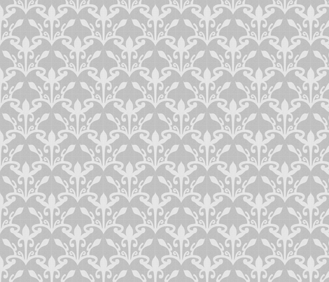 lace cutout pearl gray damask fabric by glimmericks on Spoonflower - custom fabric