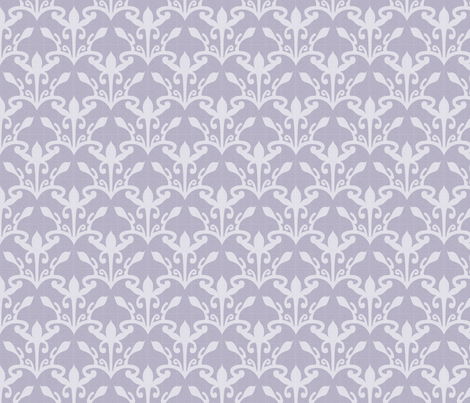 lace cutout amethyst myst damask fabric by glimmericks on Spoonflower - custom fabric