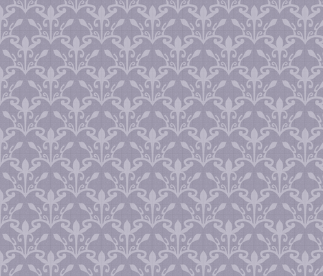lace cutout mystic lavender damask fabric by glimmericks on Spoonflower - custom fabric