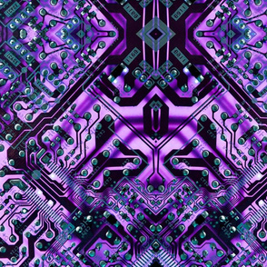 circuit board purple