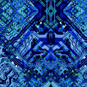 Circuit  board blue