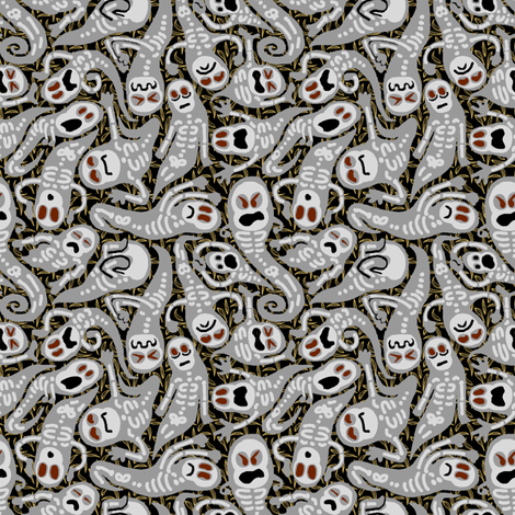 Haunts, Ghasts, and Poltergeists fabric by mongiesama on Spoonflower - custom fabric