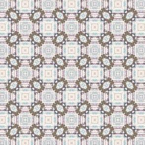 reindeer heads Snowflakes Squares