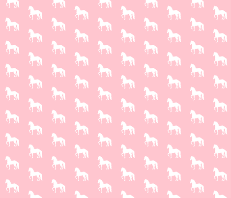 Fresian Silhouette Pink  fabric by thistleandfox on Spoonflower - custom fabric