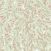 Regency Floral in Ecru Pastel Pinks
