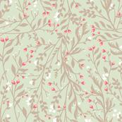 Regency Floral in Ecru Pastel Pinks
