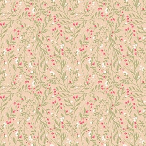 Regency Floral in Blushing Eucalypt
