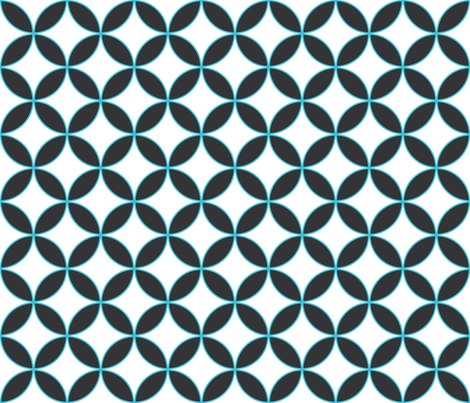 scallop grid : large fabric by muchoxoxo on Spoonflower - custom fabric