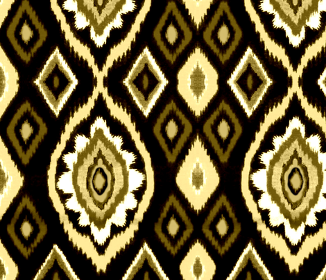 Sepia Ikat fabric by robin_rice on Spoonflower - custom fabric