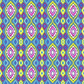 Multicolored Ikat