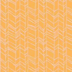 Befriended Herringbone Orange