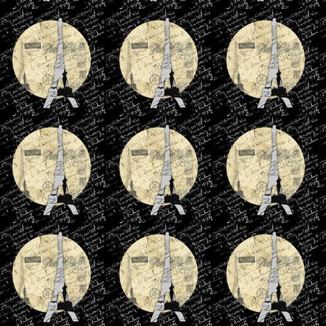 Eiffel Tower Moon fabric by karenharveycox on Spoonflower - custom fabric