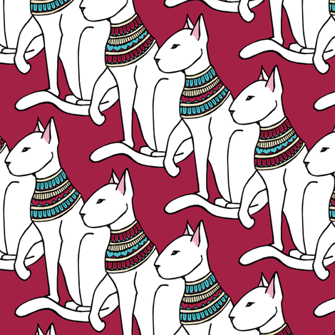 Fancy Cat fabric by pond_ripple on Spoonflower - custom fabric