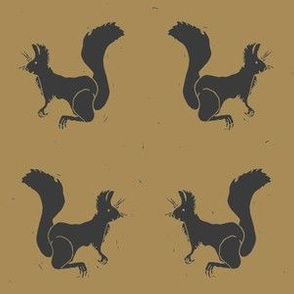 Dark Squirrels on Brown