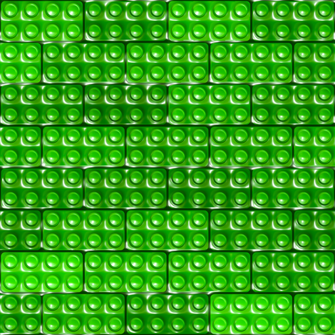 Builder's Bricks - Green fabric by bonnie_phantasm on Spoonflower - custom fabric