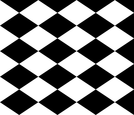 Extra Large Harlequin Check in Black and White fabric by charmcitycurios on Spoonflower - custom fabric
