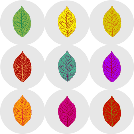 leaf buttons fabric by keweenawchris on Spoonflower - custom fabric
