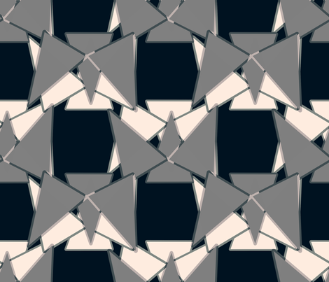 Slightly Off-Kilter Triangles Reminiscent of Heckle and Jeckle fabric by anniedeb on Spoonflower - custom fabric