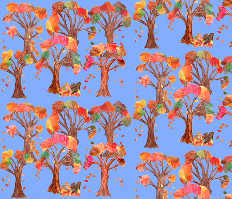 Autumn Forest fabric by hsarik on Spoonflower - custom fabric