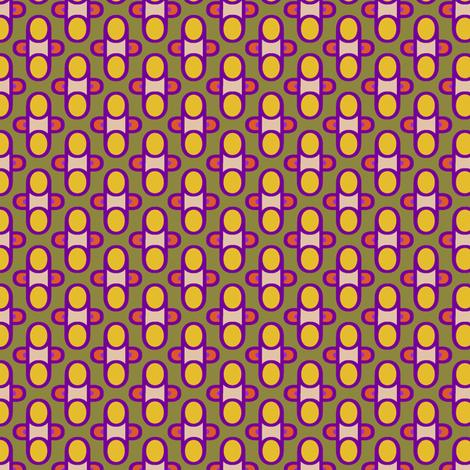 POP Foulard   -purple and orange and yellow on mustard gold fabric by fireflower on Spoonflower - custom fabric