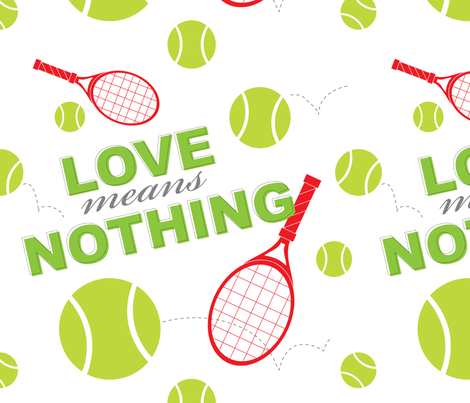 Love Means Nothing- Green fabric by audreyclayton on Spoonflower - custom fabric