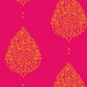Moroccan Paisley Fushia