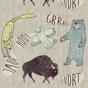 Grrr.Howl.Hoot.Snort (SMALL chartruese)