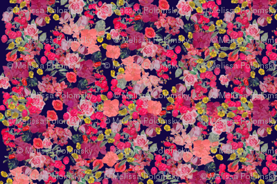 Antique Floral with Raspberry Floral