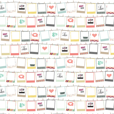 8x8 Swatch Polaroid Frames fabric by allisonkreftdesigns on Spoonflower - custom fabric