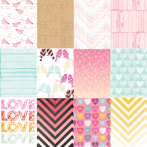 Love collage fabric by allisonkreftdesigns on Spoonflower - custom fabric