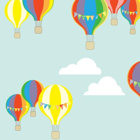 Hot Air Balloons fabric by allisonkreftdesigns on Spoonflower - custom fabric