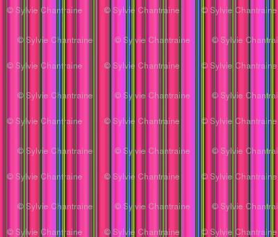 LIZARD GECKO FUSHIA Large Stripes