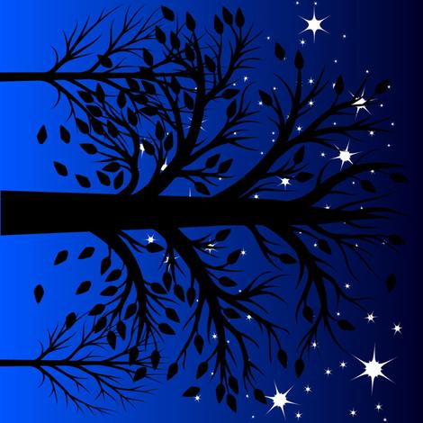 "Night sky 8"" quilt block fabric by keweenawchris on Spoonflower - custom fabric"