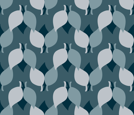 Shadows of Leaves fabric by anniedeb on Spoonflower - custom fabric