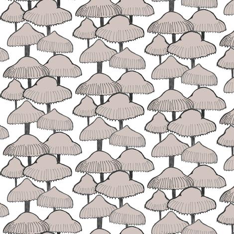 Beige Mushroom fabric by crumpetsandcrabsticks on Spoonflower - custom fabric