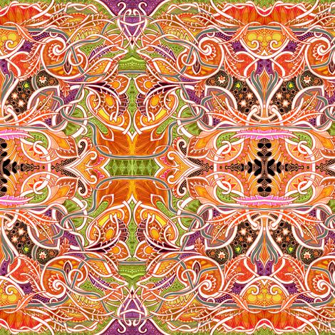 The Autumn Go Round fabric by edsel2084 on Spoonflower - custom fabric