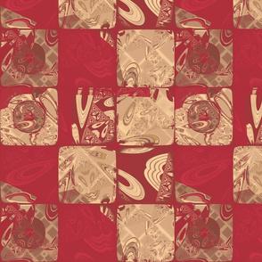 Geranium Red Blocks 2 © Gingezel™ 2013