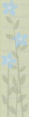 Offset Blue Floral Panel
