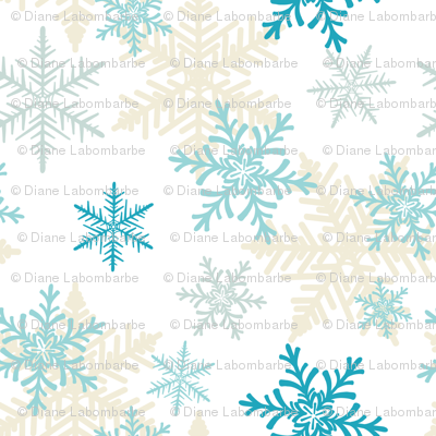 Blue Snowflake Pattern