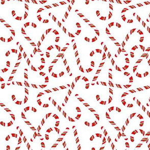 Christmas Candy Canes Wallpaper
