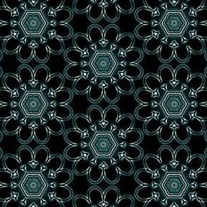 Silvery Medallion  v3  on black