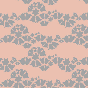 bell wave (gray on peach)