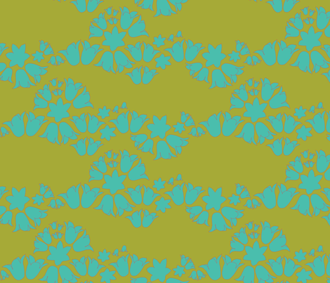 bell wave green fabric by makemightswave on Spoonflower - custom fabric