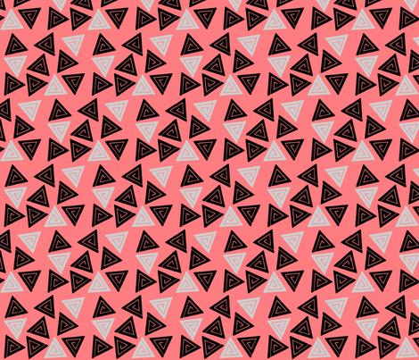 Geo-Pink fabric by hannahmia on Spoonflower - custom fabric